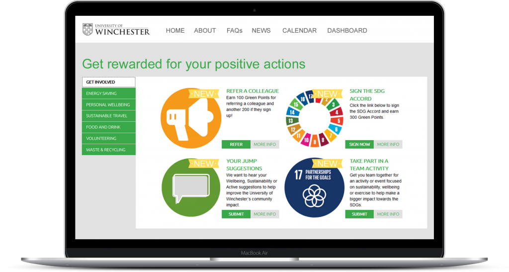 behaviour change activities to improve sustainabiltiy and wellness
